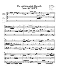 Fugue from Das wohltemperierte Klavier I, BWV 852/II (arrangement for 3 recorders)