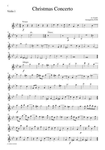 Corelli  Christmas Concerto, for string quartet, CC101