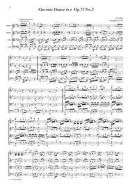 Dvorak  Slavonic Dance Op.72, No.2, for string quartet, CD206