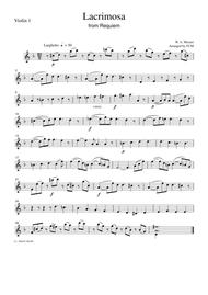 Mozart: lacrimosa from requiem in d minor (arr. For piano and.