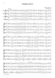 Sibelius  Andante festivo, for string quartet, CS601