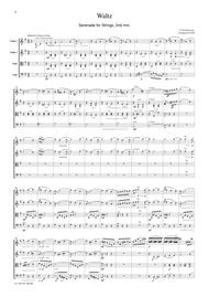 Tchaikowsky  Waltz (Serenade for Strings, 2nd mvt.), for string quartet, CT001