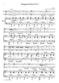 Brahms  Hungarian Dance No.5, for piano trio, PB101