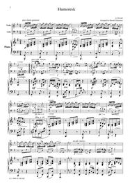 Dvorak  Humoreske, for piano trio, PD001