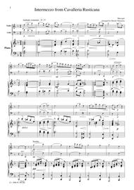 Mascagni  Intermezzo from Cavalleria Rusticana, for piano trio, PM001