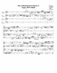Fugue from Das wohltemperierte Klavier I, BWV 846/II (arrangement for 4 recorders)