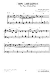 The Bat (Die Fledermaus) - Lovely Piano Music in D Key