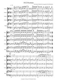 How To Top 1812 Overture How About >> Download 1812 Overture For Viola Quartet Sheet Music By Peter Ilyich