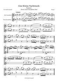Eine Kleine Nachtmusik – Romanze: Alto & Tenor Saxophone Duet