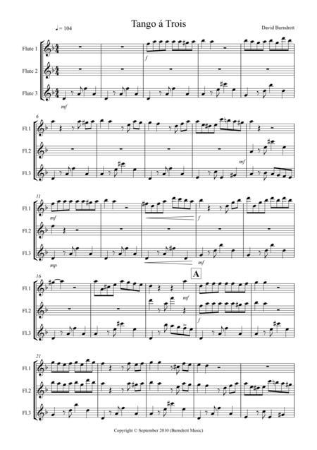 Tango á Trois for Flute Trio