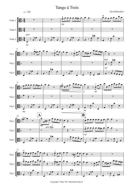 Tango á Trois for Viola Trio