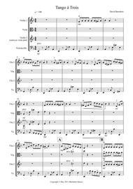 Tango á Trois for String Trio