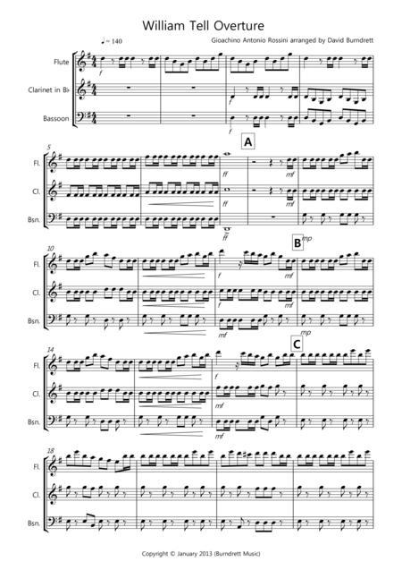 William Tell Overture for Wind Trio
