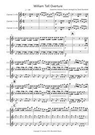 William Tell Overture for Clarinet Trio