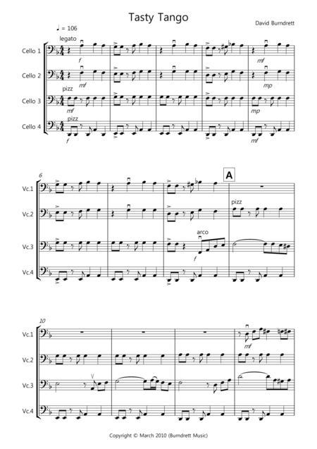 Tasty Tango for Cello Quartet