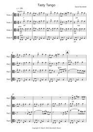 Tasty Tango for Viola Quartet