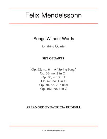 Mendelssohn: Songs Without Words, arr. for string quartet