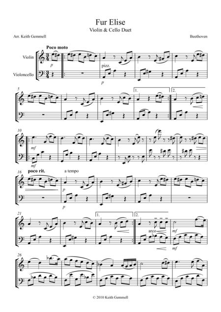 Fur Elise – Violin & Cello Duet