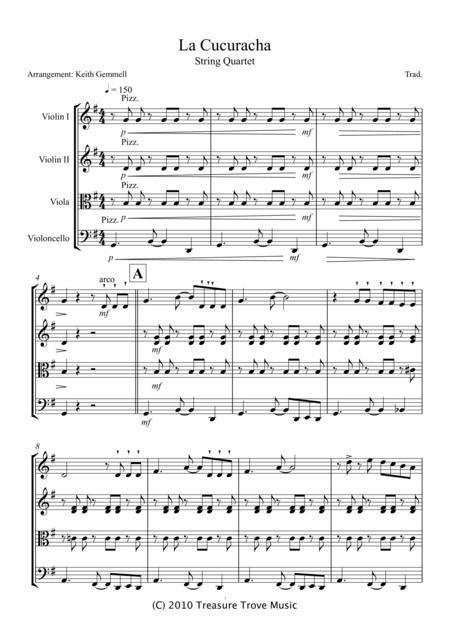 La Cucuracha – String Quartet