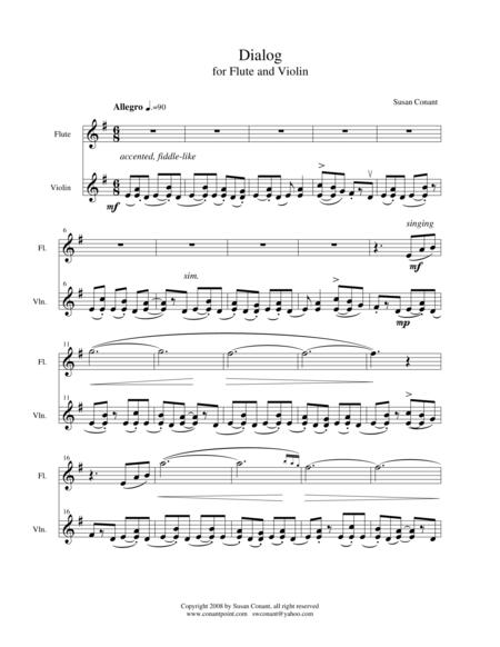 Dialog for Flute and Violin