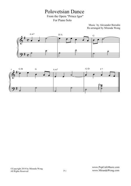 Polovetsian Dances (from Prince Igor) - Romantic Piano Solo
