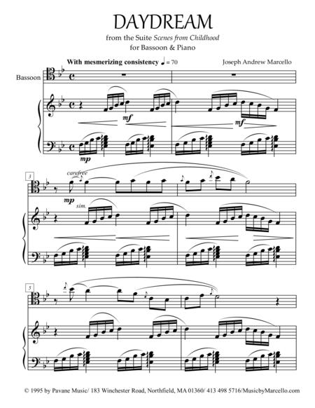 Daydream - from 'Scenes from Childhood' for Bassoon & Piano
