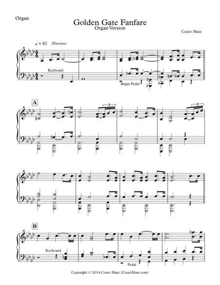 Golden Gate Fanfare - Organ Version