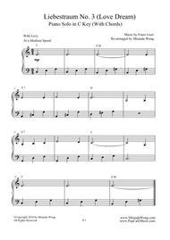 Liebestraum No.3 (Love Dream) - Romantic Easy Piano Music in C Key