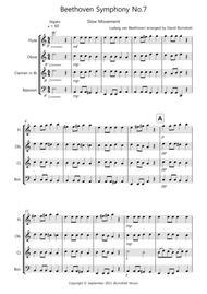 Beethoven Symphony No.7 (slow movement) for Wind Quartet
