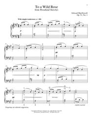 To A Wild Rose (arr. Richard Walters)