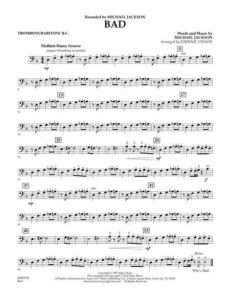 Bad - Trombone/Baritone B.C.