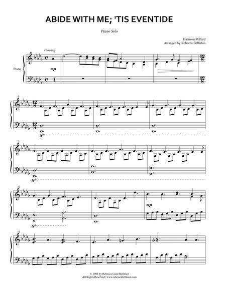 Download Abide With Me Tis Eventide Piano Solo Sheet Music By
