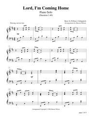 Lord, I'm Coming Home (Piano Solo)