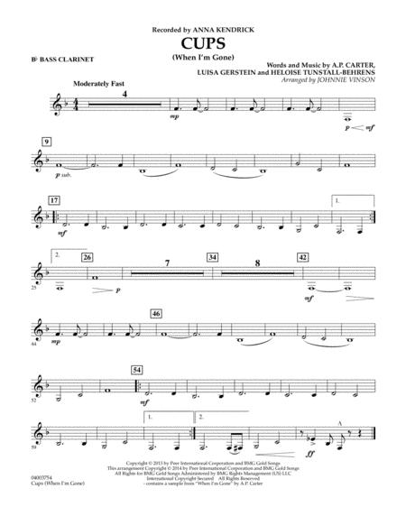 Cups (When I'm Gone) - Bb Bass Clarinet