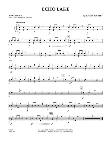 Echo Lake - Percussion 1