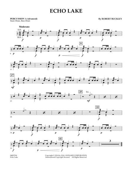 Echo Lake - Percussion 1 (Advanced)