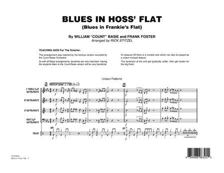 Blues in Hoss' Flat (Blues in Frankie's Flat) - Conductor Score (Full Score)