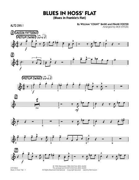 Blues in Hoss' Flat (Blues in Frankie's Flat) - Alto Sax 1
