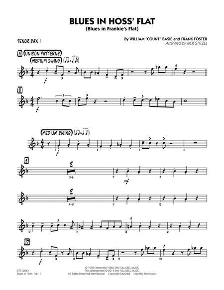 Blues in Hoss' Flat (Blues in Frankie's Flat) - Tenor Sax 1