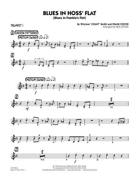 Blues in Hoss' Flat (Blues in Frankie's Flat) - Trumpet 1