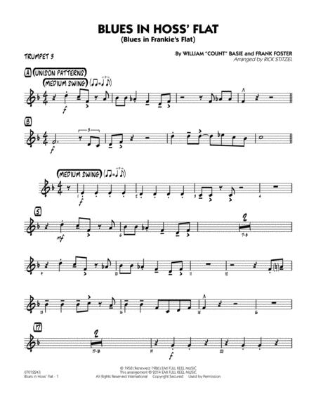 Blues in Hoss' Flat (Blues in Frankie's Flat) - Trumpet 3