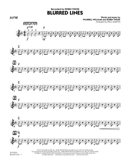 Blurred Lines - Guitar
