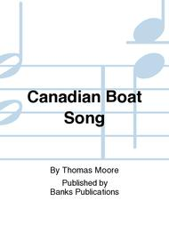 Canadian Boat Song