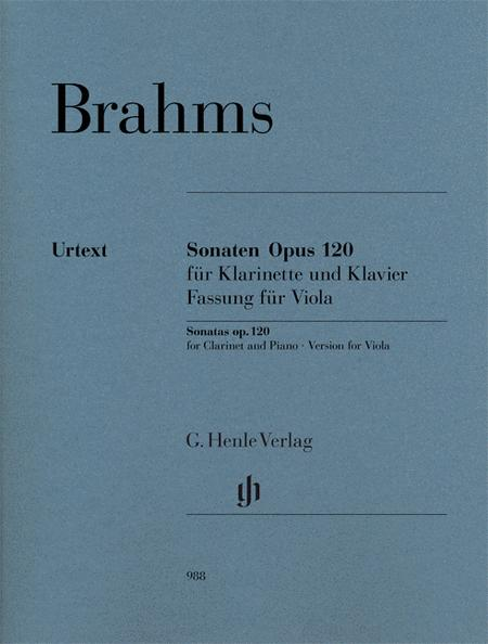 Sonatas for Piano and Clarinet op. 120