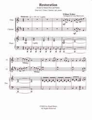 Restoration (Come Ye Sinners) Flute, Clarinet duet, with piano
