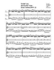 Chorale: Ertödt' uns  durch dein' Güte from Cantata BWV 22 (Arrangement for 3 recorders)