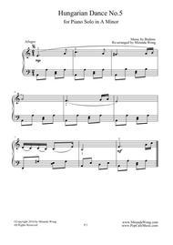 Hungarian Dance No.5 in A Minor - Classical Piano Solo