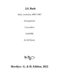 Suite for orchestra no.2, BWV 1067 (arrangement for 5 recorders)