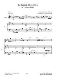 Romantic Arioso in G - Violin and Piano (Romantic Version)