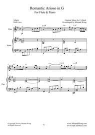 Romantic Arioso in G - Flute and Piano (Romantic Version)